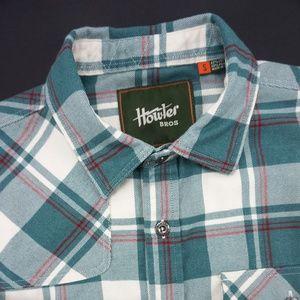 Howler Bros Harkers Flannel Pedernales Plaid Shirt